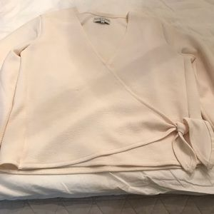 Madewell cream side tie top